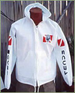 """Manatee"" Hooded Zippered Shirt"